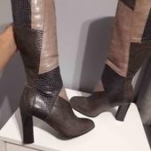 красивенні чоботи екошкіра 37