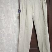 Фирменные новые мужские брюки-чиносы р.38-31 на пот-44-49 поб-62