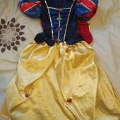 Фирменное платье Белоснежка 5-6 лет, бархат + атлас, мега крутое!