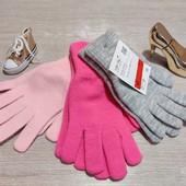 Германия!!! Лот из 3 пар перчаток для девочки! 128-152!
