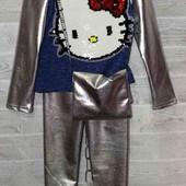 Крутой костюм для девочек! Ангора + эко-кожа!!!!