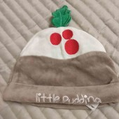 TU шапка новогодняя малышу 3-6 м 62-68 см новая
