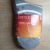 Комплект 2 шт женские теплющие носки со стопперами Esmara Германия размер 35-38