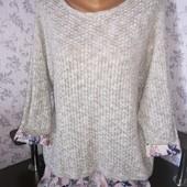 Женский свитер обманка. Размер 52