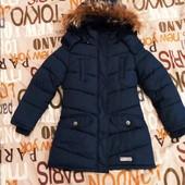 Теплая куртка пальто 122 р.