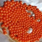 Бусинки жемчужные мандариновые 4мм. Лот 100 шт