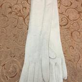 Класснючие длинные(44 см) женские перчатки, кашемир