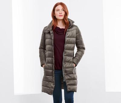 ☘ Мягусенькое стеганное пальто, еврозима, Tchibo(Германия), размеры наши: 42-44 (36 евро)