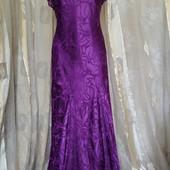 Вечернее платье с шелковыми цветами
