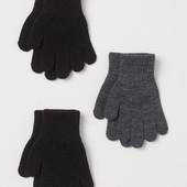 лот 3шт!!! набор перчаток H&M на 4-8 лет (110/128)