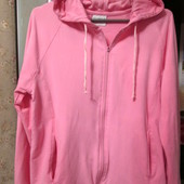 розовая кофта с капюшоном 46-48 р.