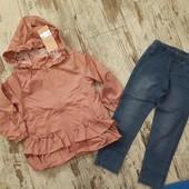Шикарный костюм девочке, легкая курточка, джеггинсы. Лето,ранняя осень р3/4 года