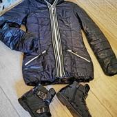 В лоте куртка-пальто и ботинки осень-весна, быстрая отправка