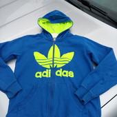 Стоп!!, Фирменная удобная яркая натуральная!! утепленная ( начёс) кофта оригинал Adidas