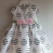 Нарядное платье на маленькую модницу. Смотрите замеры