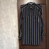 Фирменная красивая блуза-рубашка в хорошем состоянии р.16