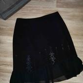 Шикарная черная юбка L XL