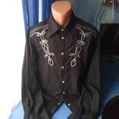 Мужская рубашка на заклёпках, размер- XL