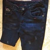 крутезні,мдні, джинси новие без бирке на 12,13 лет смотрите замери,!!!