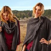 Теплое вязаное пончо-шаль от Tchibo (германия) универсальный размер. 150 на 100 см
