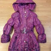 Зимняя курточка для принцессы на 7-8 лет.