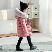 Шикарный пуховик для девочки до -20 мороза+подарок,блиц-доставка бесплатно!