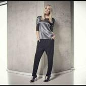 esmara.стильная комбинированная блуза премиум коллекции  евро 44+6