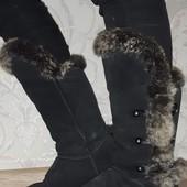 Зимние замшевые сапожки, угги