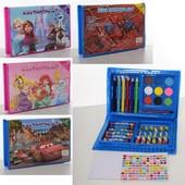 Набор для творчества MK 3133-1, карандаши, акварельные краски, 4 вида, в пенале.