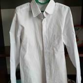 Рубашка на мальчика в школу белая 134 рост