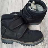 Кожаные утеплённые Деми ботиночки Lepi 29 размер стелька 18,5 см