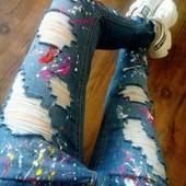 Супер модные джинсы р.12(44-46)