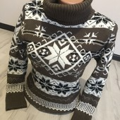Теплый свитер М Л