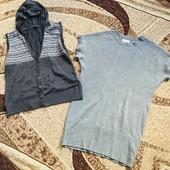 Вязанное платье + вязанный жилет на L