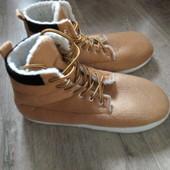 Новые мужские теплые тапочки ботинки