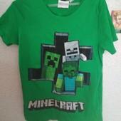 Футболка Minecraft,Майнкрафт ,7-9 лет,коттон.