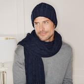 ☘ Уютный мужской шарф крупной вязки от Tchibo (Германия), размер универсальный