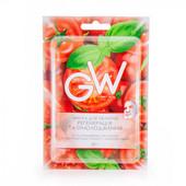 Маска для лица тканевая green way с экстрактами томата и корней имбиря, 25 г