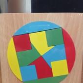 Деревянная развивающая игра-головоломка -мозайка Логика /