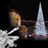 Распродажа. Белая светодиодная гирлянда 100 Лед ,8 режимов,7 метров.Можно использовать для улици!
