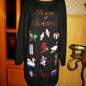 Качество! Шикарное платье/длинный свитер, вышивка и паетки, от бренда George, в новом состоянии