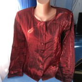 Симпатичная женская блузка, перламутр, р.40(48-50)