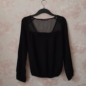 Красивая черная блуза , приятная вискоза ! УП скидка 10%