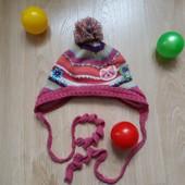 Зимова шапка дівчинці на 3-6 роки