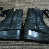 Женские зимние ботинки натуральная кожа б\у