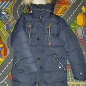 Очень теплая зимняя куртка на мальчика