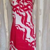 платье лен +шелк