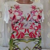 блуза с трикотажной спинкой