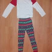 Без дефектов!Хлопковая пижамка на 8-9 л и р 128-134 см!