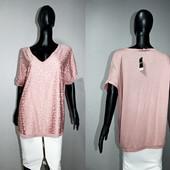 Качество! Шикарная комбинированная блуза от George